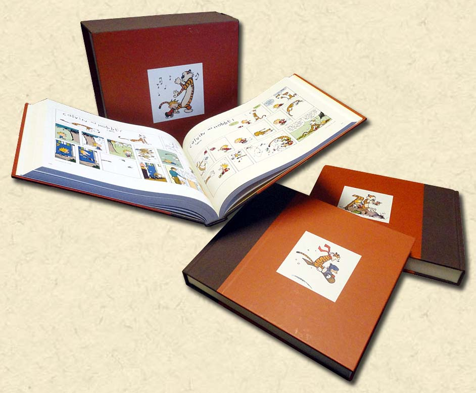 WATTERSON, BILL - The Complete Calvin and Hobbes - Three slipcased volumes
