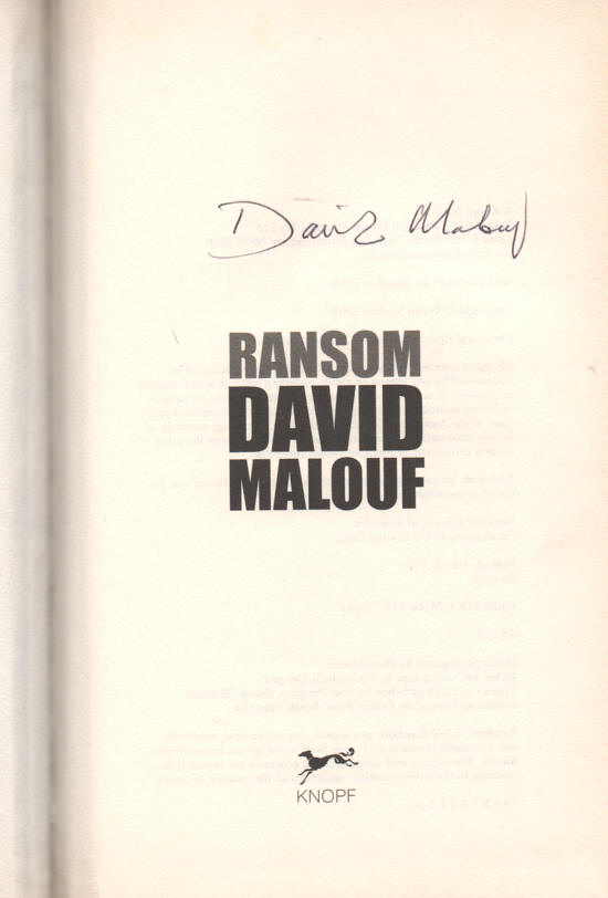 ransom by david malouf study guide